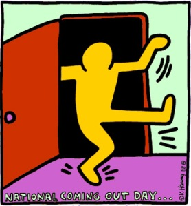 """Keith Haring's """"National Coming Out Day"""""""